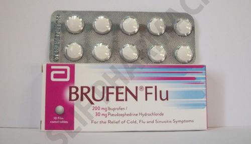 بروفين فلو لعلاج نزلات البرد والانفلونزا واحتقان الحلق Brufen Flu
