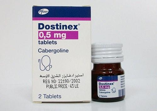 دوستينيكس أقراص لتقليل إفراز اللبن Dostinex Tablets