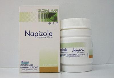 نابيزول لعلاج قرحة وحموضة والتهابات المعدة والاثنى عشر Napizole