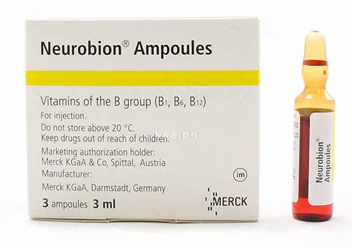 نيوروبيون أمبولات حقن لعلاج نقص فيتامين ب المركب Neurobion Ampoules