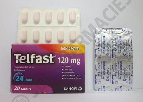 تلفاستلعلاج حالات الحساسية والألتهابات الجلدية Telfast