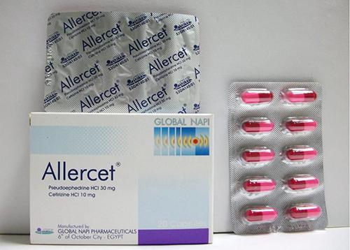 اليرسيت كبسولات لعلاج نزلات البرد والزكام Allercet Capsules