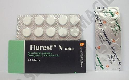 فلورست إن أقراص لعلاج نزلات البرد والانفلونزا Flurest N Tablets