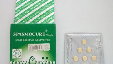 سبازموكيور أقراص لعلاج ألام المعدة والتقلصات Spasmocure Tablets