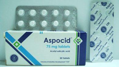 أسبوسيد أقراص مسكن للالم وخافض للحرارة Aspocid Tablets