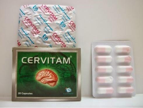 سيرفيتام كبسولات لعلاج الدوخة وتقوية الذاكرة Cervitam Capsules