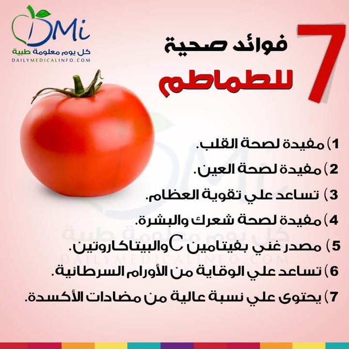 تعرف علي فوائد الطماطم الصحية