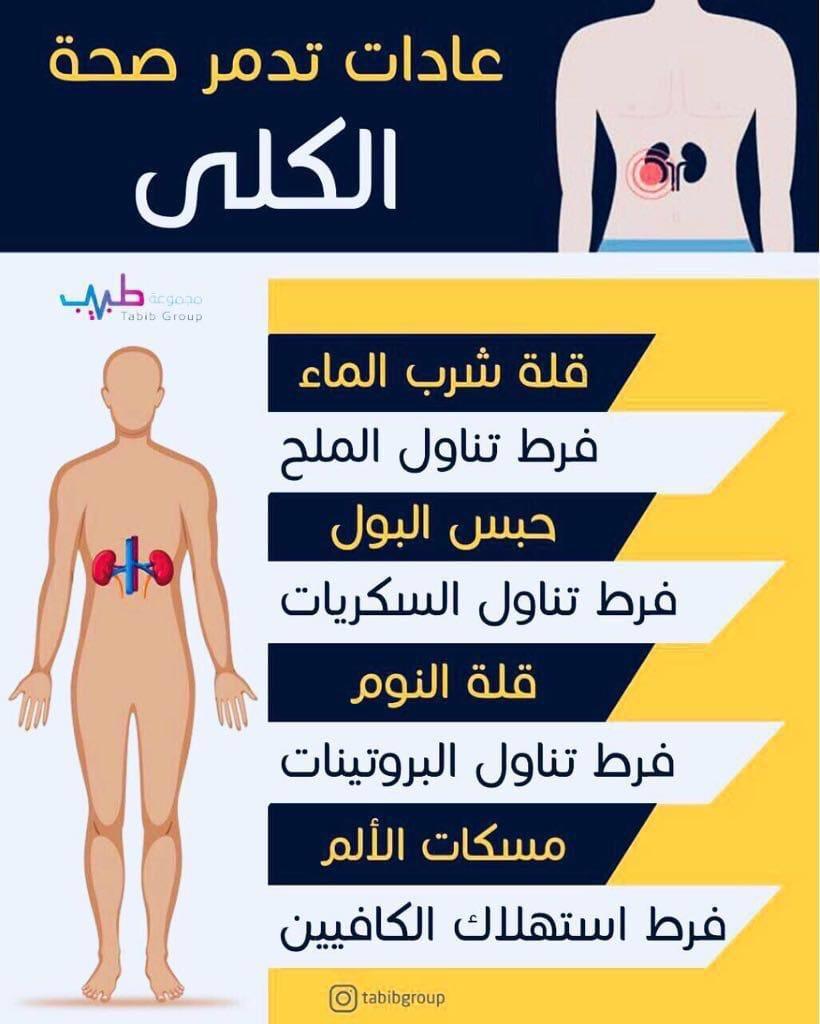 عادات تدمر صحة الكلي