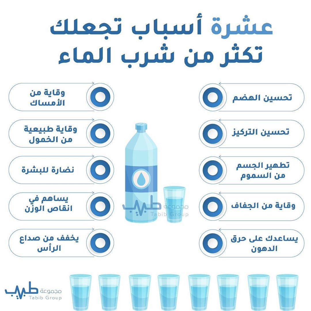 عشرة أسباب تجعلك تكثر من شرب الماء