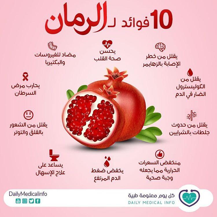 10 فوائد للرمان