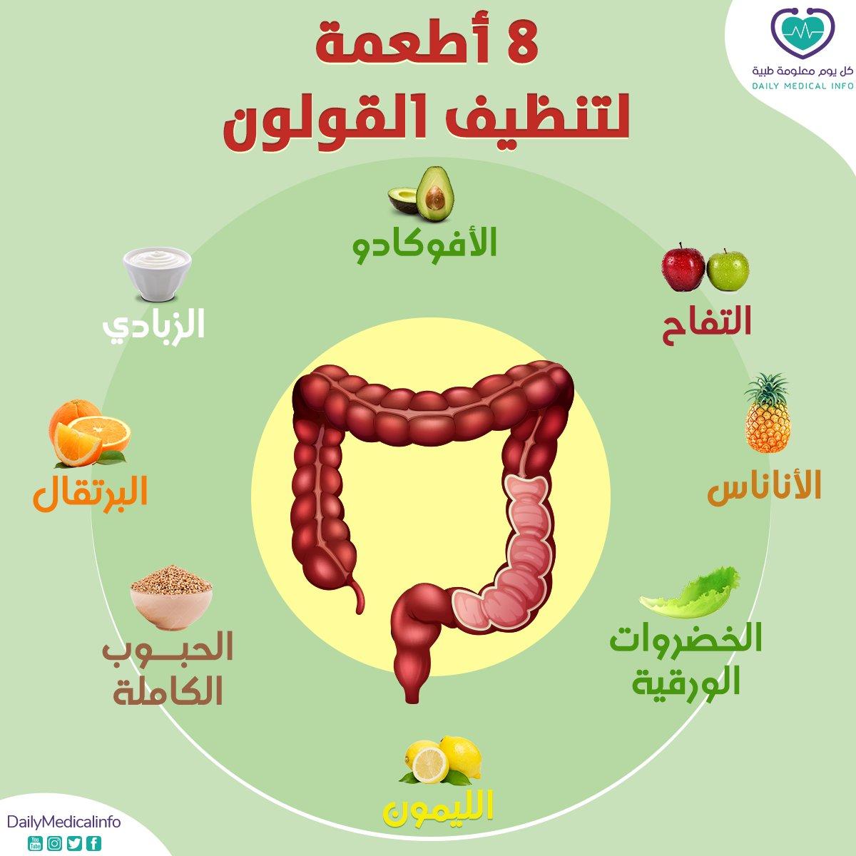 8 أطعمة لتنظيف القولون