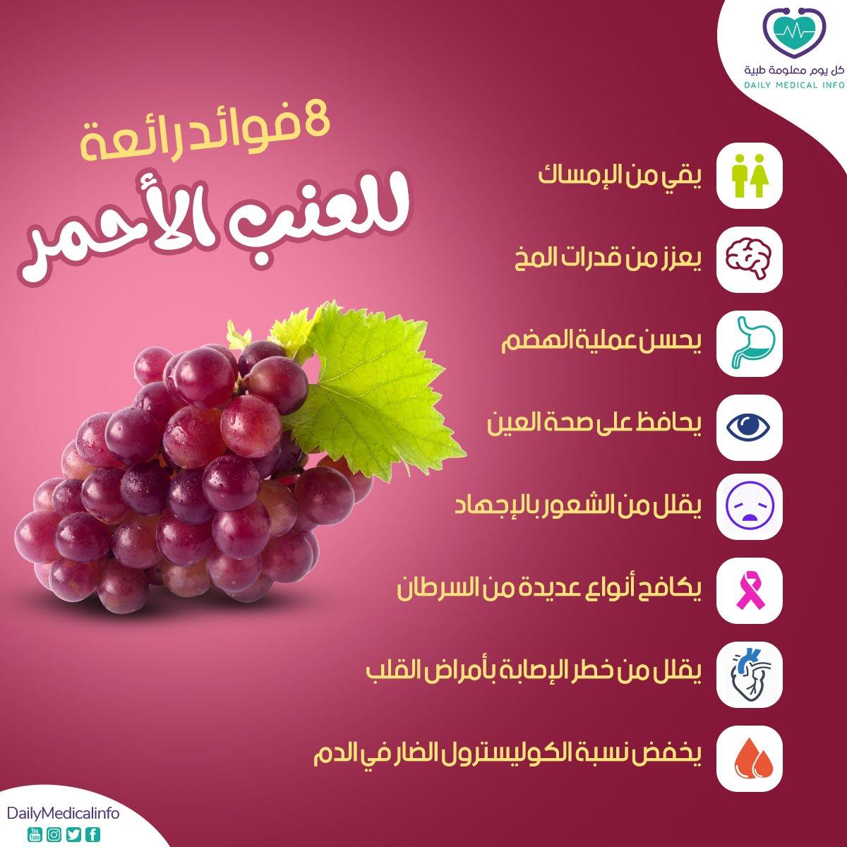 8 فوائد رائعة للعنب الأحمر